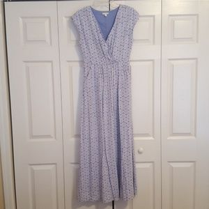 GAP | Blue & White Maxi Dress | Sz 2